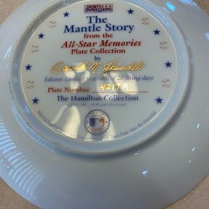Other - The Mantle Story collectors plate